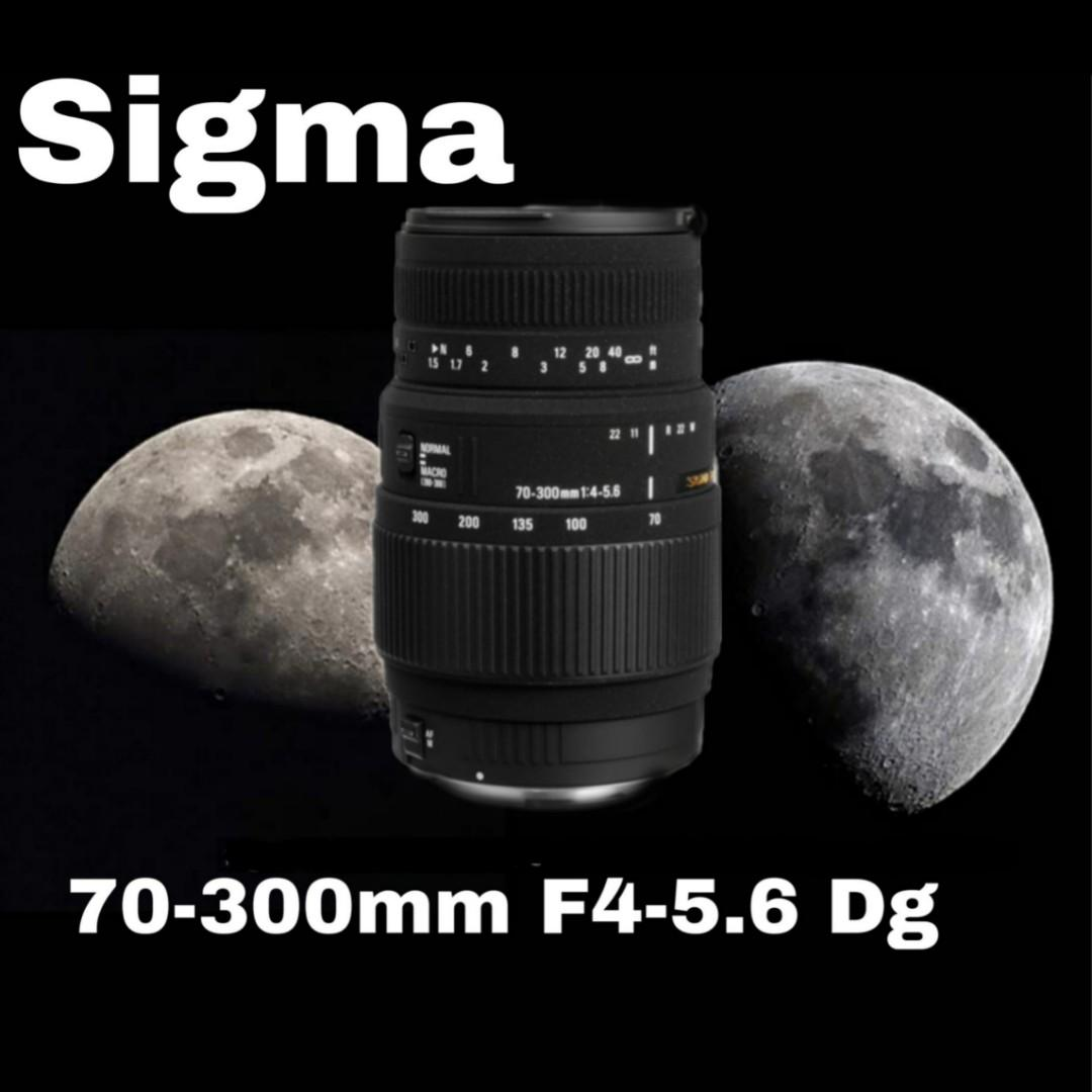 Lens Hood Included Sigma 70-300mm f/4-5 6 DG Macro Lens for