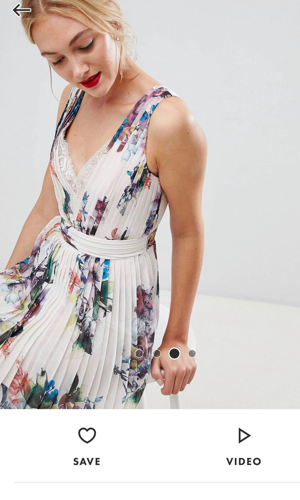 15e9828d377d84 Little mistress tall pleated maxi dress in floral print, Women's Fashion,  Clothes, Dresses & Skirts on Carousell