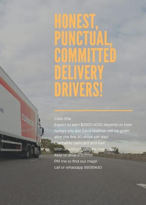 MASS HIRING ! DELIVERY DRIVERS NEEDED ! BRING HOME VAN !