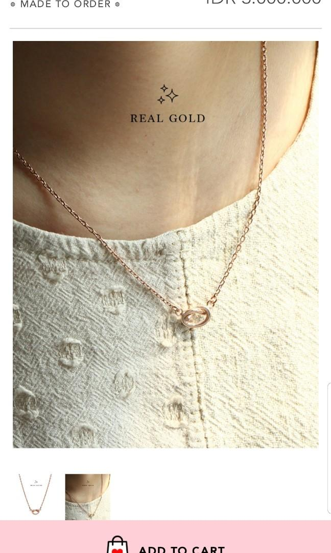 SALE!!! My loulourose rose gold necklace 16.8k