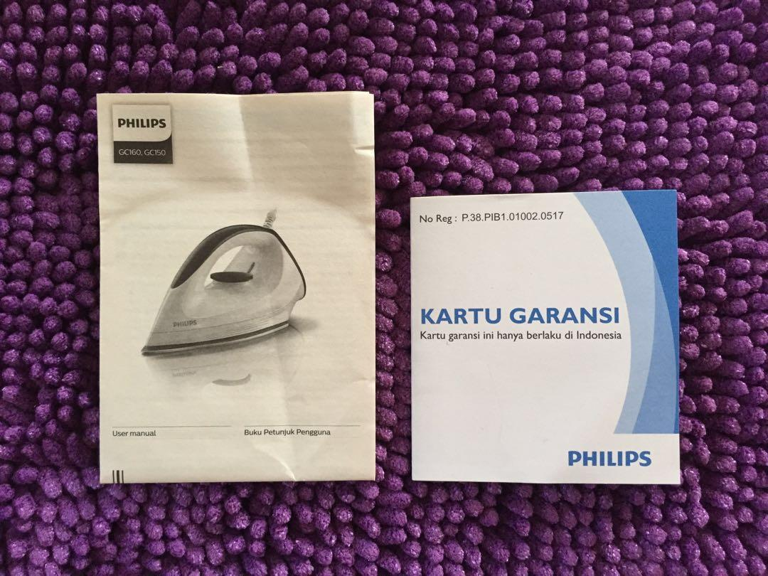 Philips Setrika Kering Affinia (GC160) - Ungu