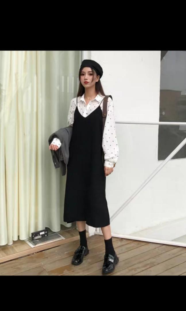 spaghetti strap dress with tshirt