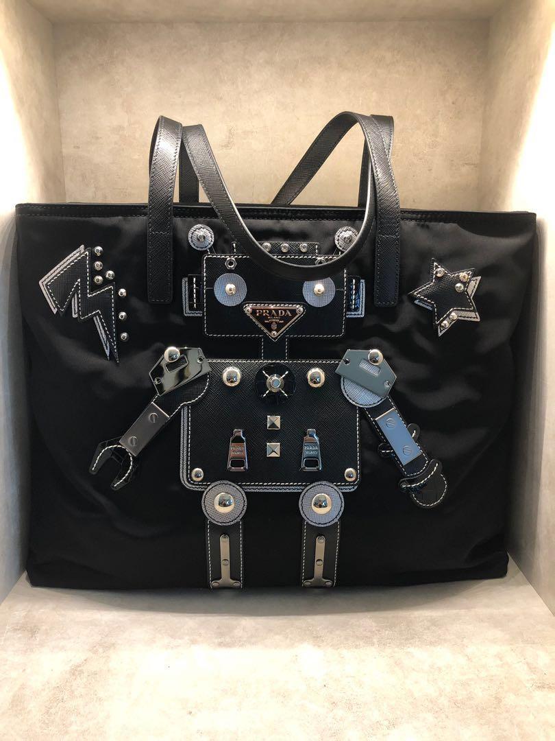 06b6c4f8889f Prada Tote Bag (Tessuto Robot), Luxury, Bags & Wallets, Handbags on ...