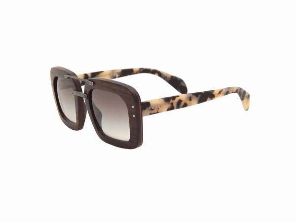 Prada Wooden Sunglasses Shades On Carousell