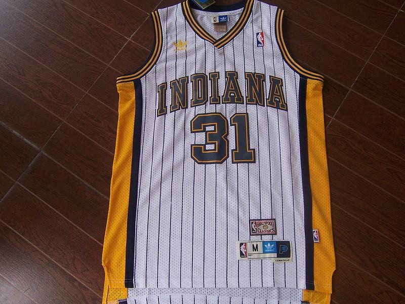 low priced ca9f9 faae7 Reggie Miller Indiana Pacers throwback vintage nba jersey on ...