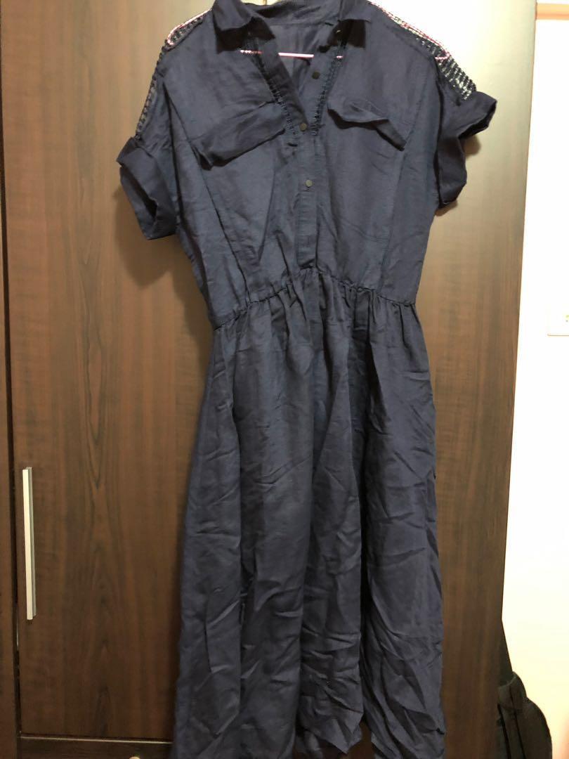 Royal dark blue dress