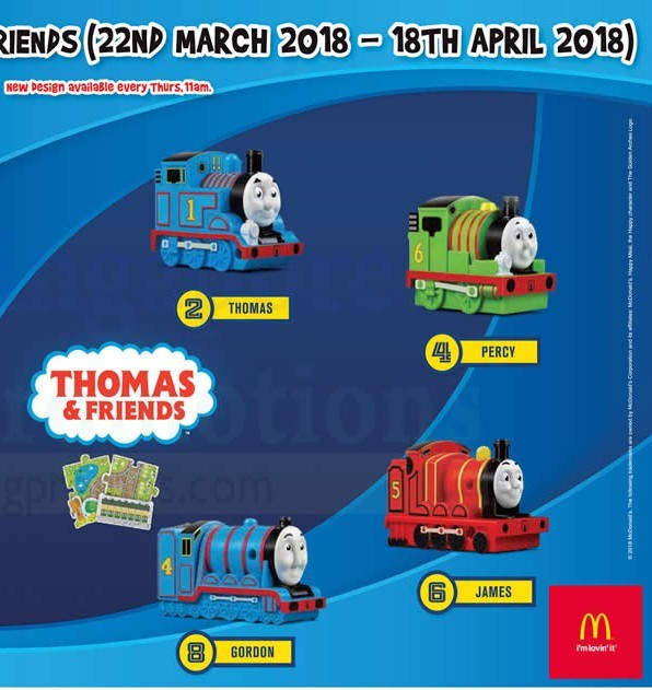Set of 4x thomas the train Happy meal toys, Toys & Games, Others on