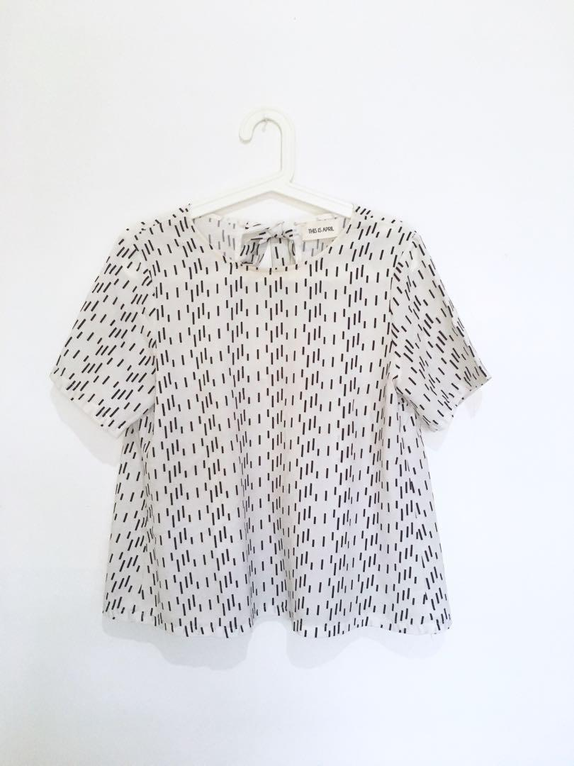 This is April White Blouse