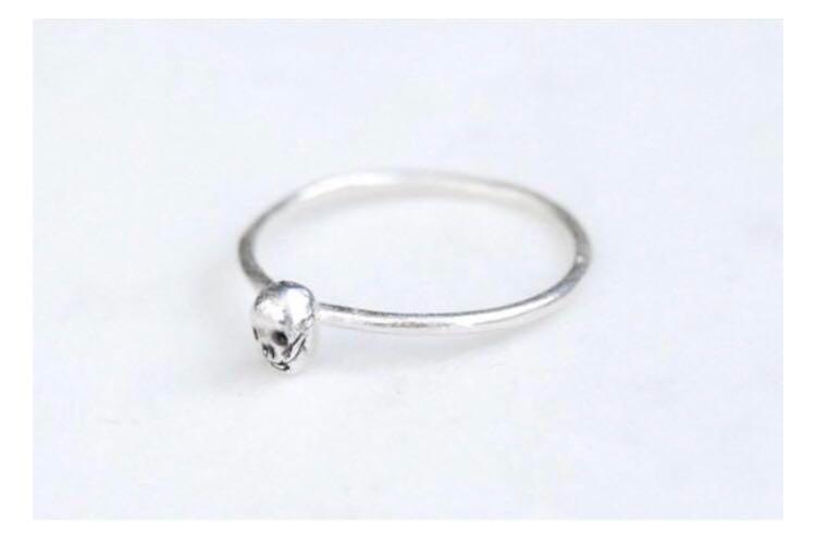Tiny skull ring 925 sterling silver