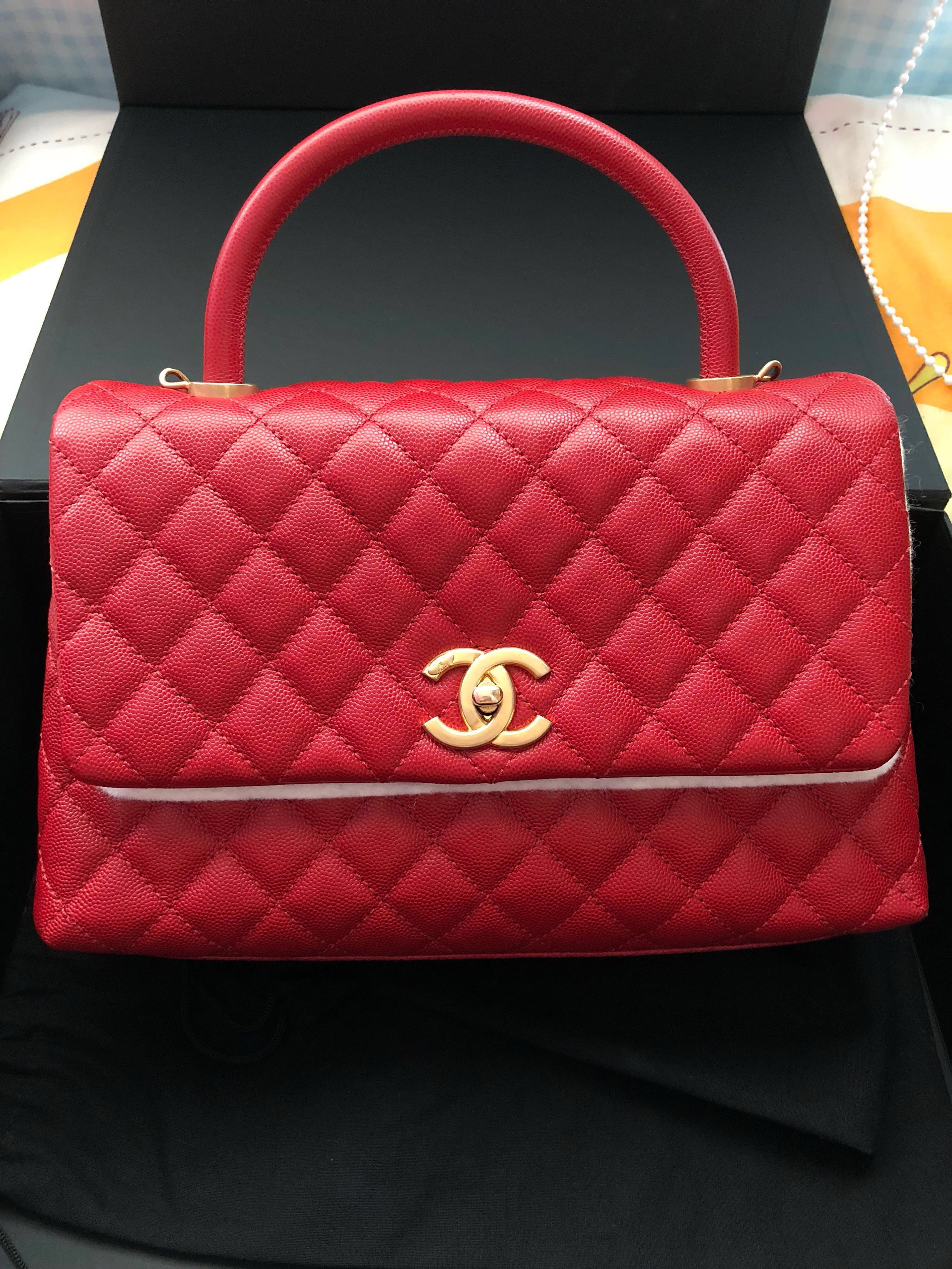 78751fcab9bd23 (To collect at MBS boutique) Chanel Coco Handle GHW 29cm, Luxury, Bags &  Wallets, Handbags on Carousell
