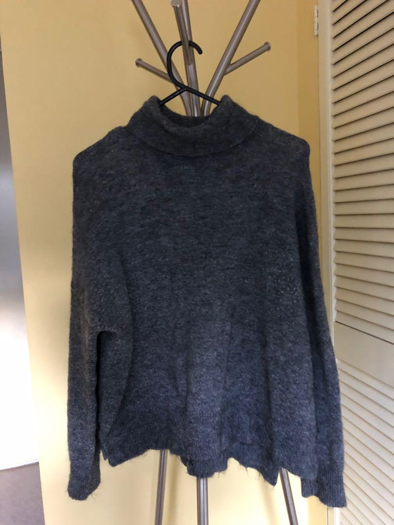 Top shop designer style grey will sweater