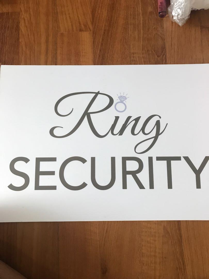 Wedding ring security sign hard cover