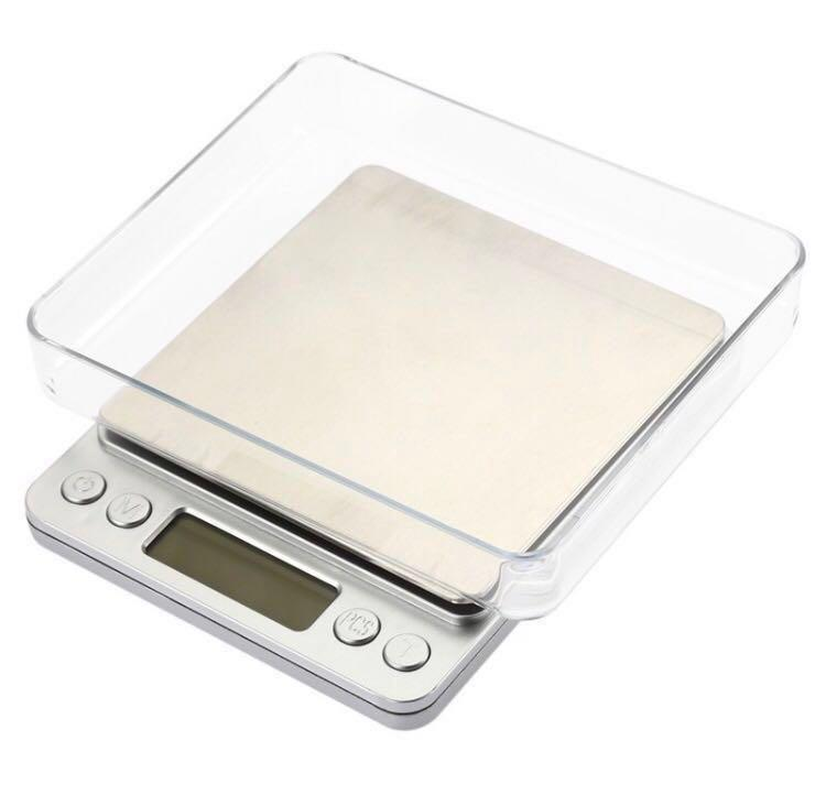 With 2 TRAYS!!! Digital Kitchen Scale Max 3kg