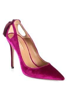Aquazurra Marilyn Exotic Velvet Pumps