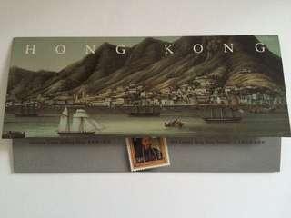 1986年畫像、舊日風貌郵票套摺