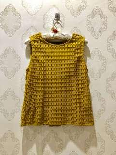 NEW Mustard Yellow Lace Top