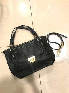 Micheal Kors Black Tote With Long Strap