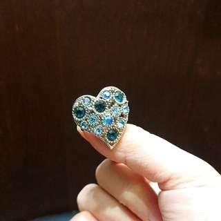藍色閃石民族指環
