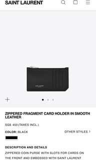 Authentic Brand new YSL SAINT LAURENT card holder