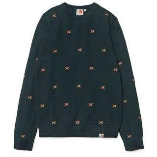 🚚 carhartt Superduck Sweater 100%羊毛 綠毛衣 S