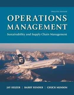 (eBook) Operations Management Sustainability and Supply Chain Management twelfth edition
