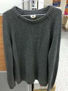 🚚 H&M灰色毛衣
