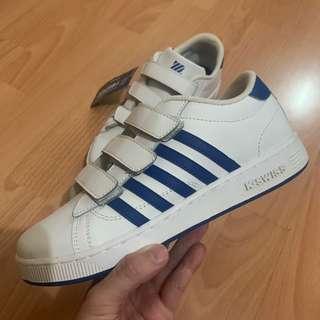 New Boys K-Swiss White and Blue Trainers School Shoes 返學鞋 UK2.5 EU35