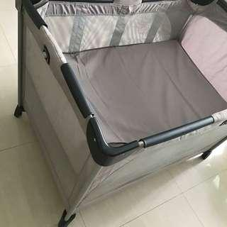 (baby cot with latex matress) cheapest! Joie Allura Playpen with baby bassinet and Babysafe Latex Mattress