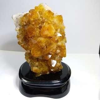 C006-天然水晶 黃晶簇 清倉大特價