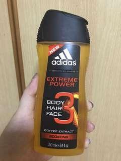 Adidas body face and hair shampoo