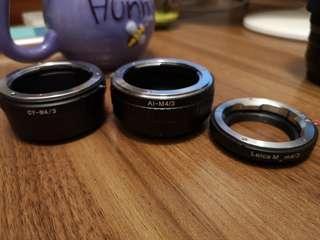 Cy Leica nikon to m43 轉接環