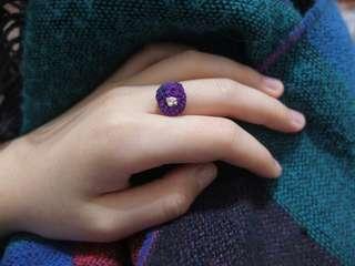 手工繡物-長在手上的花(戒指)