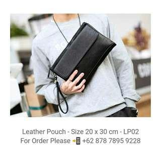 Leather Pouch - Clutch - LP02