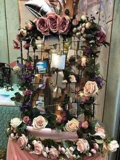 結婚佈置裝飾 花架相架配閃燈 #結婚物資