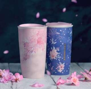 🚚 Starbucks Sakura Mugs with Lid