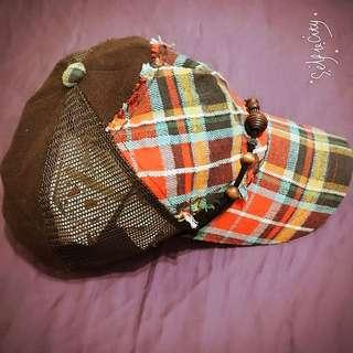 彩虹咖啡帽