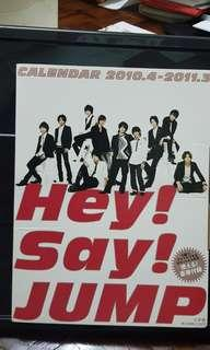 Hey Say JUMP Photobook Calendar 2010.04 - 2011.03