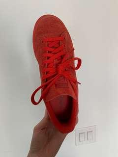 adidas Stan Smiths - limited edition all red suede - size 8