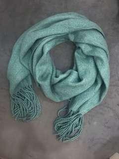 🚚 (全新)綠色保暖圍巾