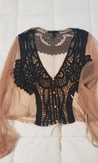 Forever 21 crochet blouse