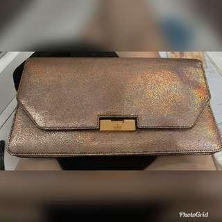 Gucci limited edition gold clutch bag
