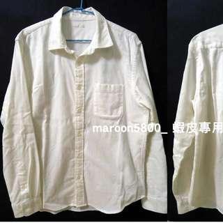 GU 素面 牛津 長袖 襯衫 全白 白色 上衣 韓版 經典 潮流 休閒 正式 時尚 流行 日系 uniqlo h&m