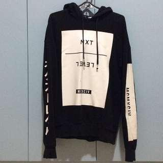 H&M BLACK NEXT LEVEL JAPANESE HOODIE
