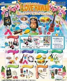 Re-ment 絕版食玩 I love Hawaii 夏威夷 全新 全9款