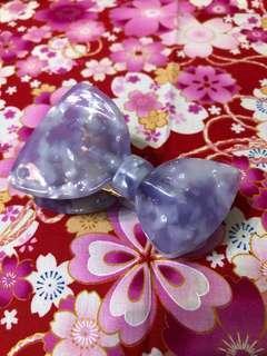 韓國粉紫蝴蝶髮夾