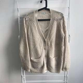 Urban Outfitters Kimchi Blue Beige Cardigan