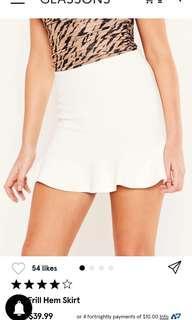 Glassons Knit Frill Hem Skirt XS