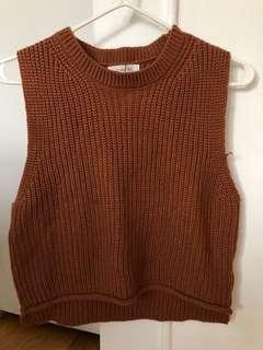 A Land (Korean Brand) sleeveless knit top