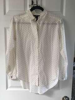 H&M Heart Pattern Button Up