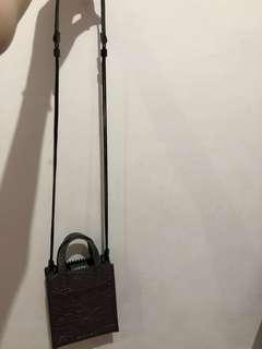 CHARLES & KEITH SLING BAG (GREY)